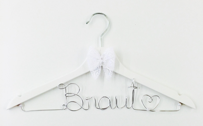 Kleiderbügel Braut silber – buntermix