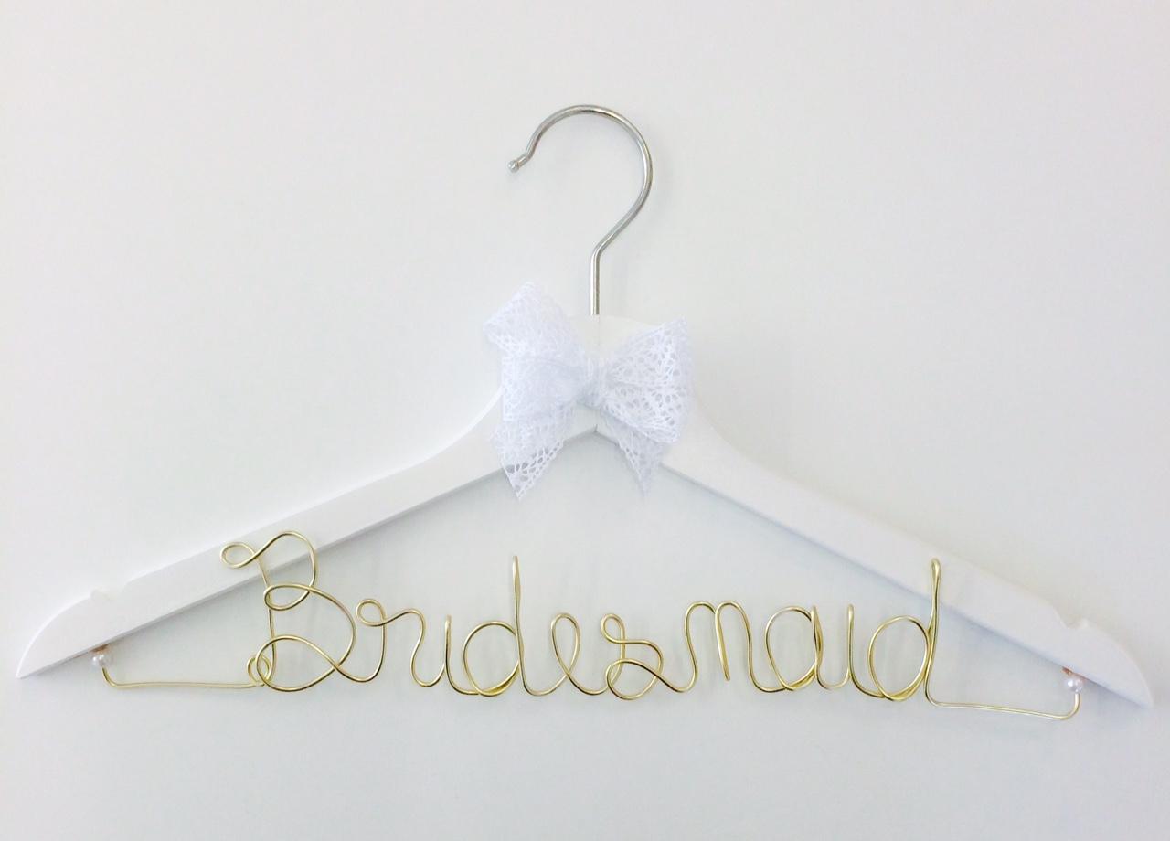 Kleiderbügel Bridesmaid gold – buntermix