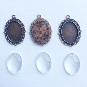 diy set cabochon oval kupfer