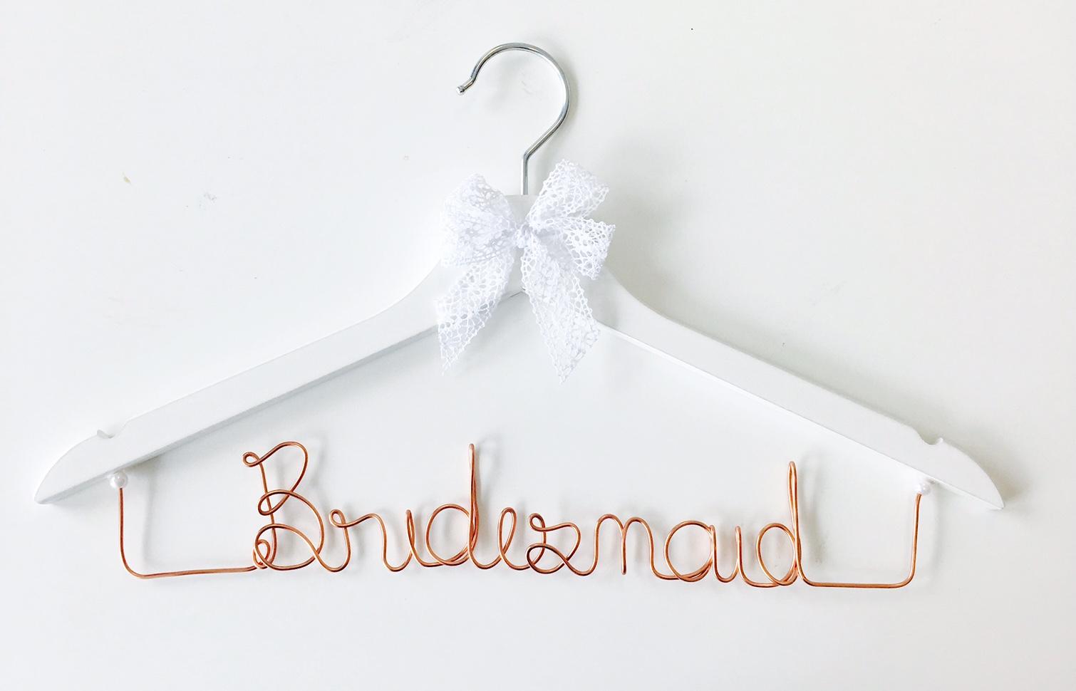Kleiderbügel Bridesmaid kupfer – buntermix